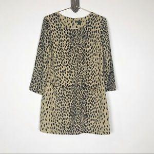 J. Crew Cheetah Print Shift Dress
